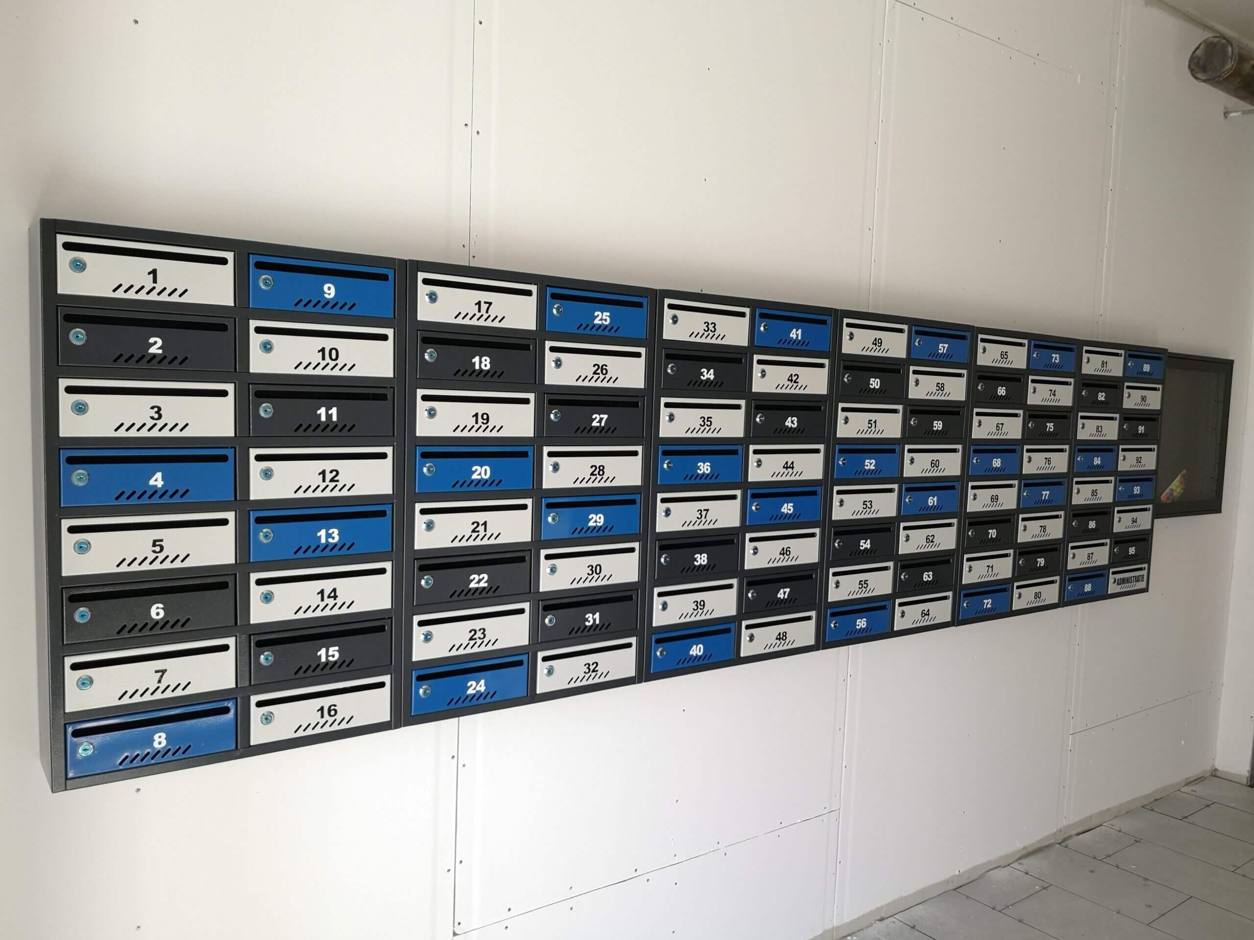 cutii postale de bloc